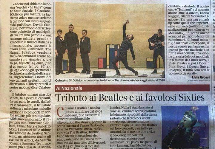 Da domani a Milano! Vi aspettiamo al Teatro Leonardo MTM col Jukebox VERSIONE 2018!…